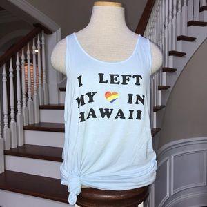 Travel Habits Tank I Left My Heart in Hawaii M New